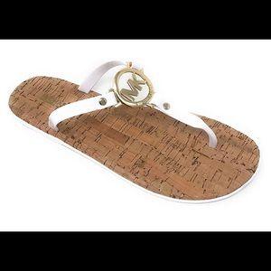 Authentic Michael Kors. Sandals. White.